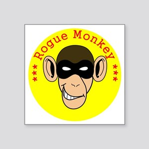 "RogueMonkeyColor1 Square Sticker 3"" x 3"""