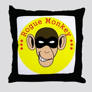RogueMonkeyColor1 Throw Pillow