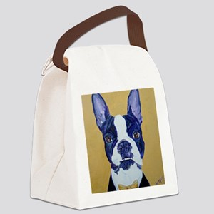 BostonCremeTie Canvas Lunch Bag