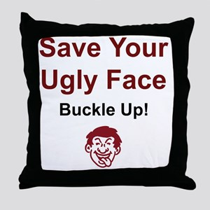 2-UglyFace Throw Pillow