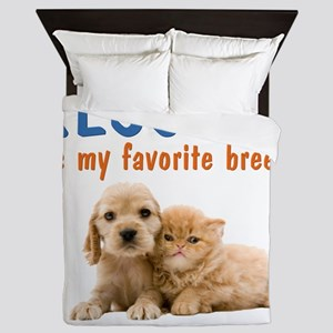 rescued_is_my_favorite_breed_2-trans Queen Duvet