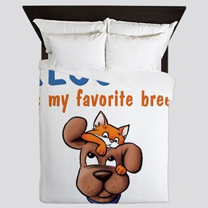 rescued_is_my_favorite_breed_1-trans Queen Duvet