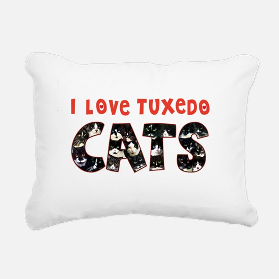 092nc IlovtuxI Love Tuxe Rectangular Canvas Pillow