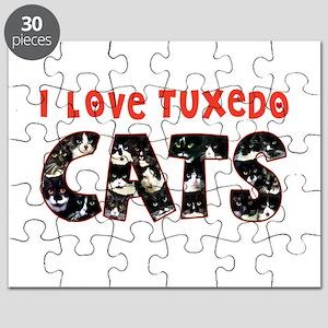 092nc IlovtuxI Love Tuxedo Cats Puzzle