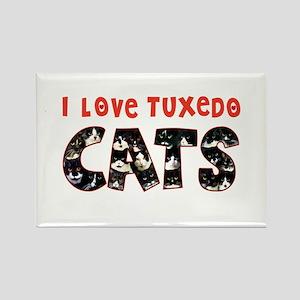 092nc IlovtuxI Love Tuxedo Cats Rectangle Magnet