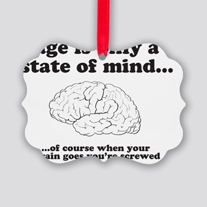2-stateofmind Picture Ornament
