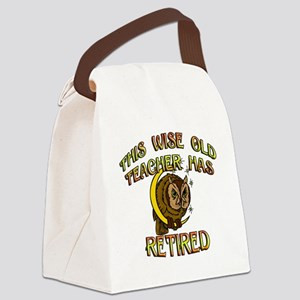 retired teacher with owl copy Canvas Lunch Bag
