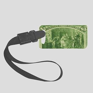 usa-columbus-2dollar Small Luggage Tag