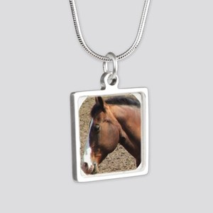 Circle Garfield 2007 Silver Square Necklace