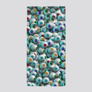 Eyeballs In Many Colors Beach Towel