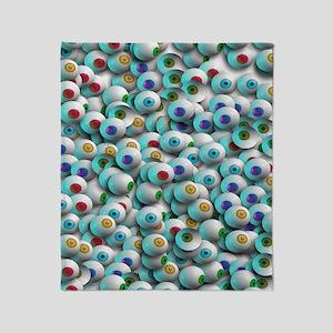 Eyeballs In Many Colors Throw Blanket