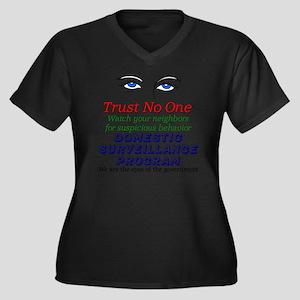 201 Women's Plus Size Dark V-Neck T-Shirt