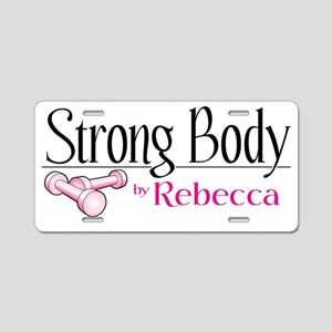 strong body aubrey Aluminum License Plate