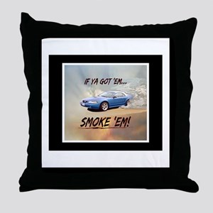 Wandas Mustang(11 x 17) Calendar Throw Pillow