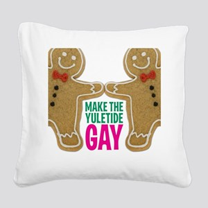 2-YULETIDE_Poster-NoRob Square Canvas Pillow