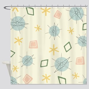 Atomic Age Art Shower Curtain