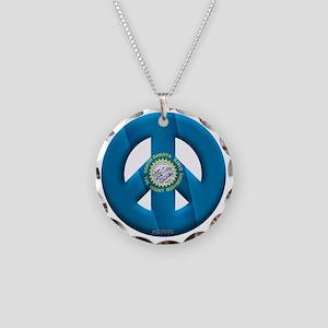 South Dakota Necklace Circle Charm