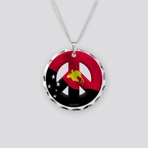 Papua New Guinea Necklace Circle Charm