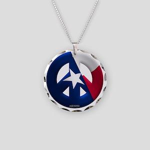Texas Necklace Circle Charm