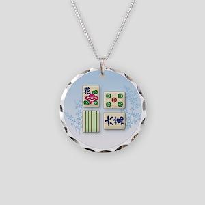 mahjong Necklace Circle Charm