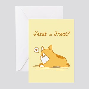 Corgi halloween greeting cards cafepress treat or treat 10 pack greeting cards m4hsunfo Choice Image