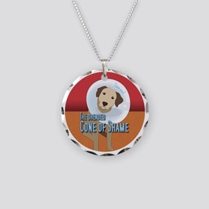 cone of shame Necklace Circle Charm