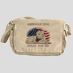 Amerian Flag Dog, Bully for Me Messenger Bag