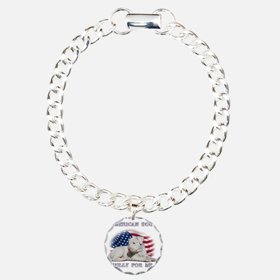 Amerian Flag Dog, Bully  Bracelet