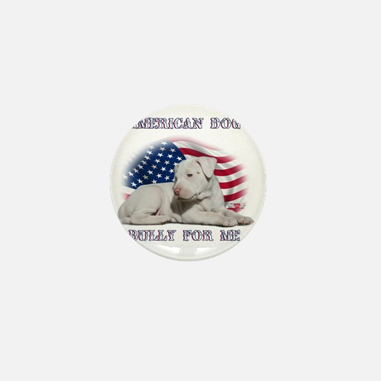 Amerian Flag Dog, Bully for Me Mini Button