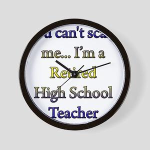 retired teacher 1 copy Wall Clock