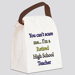 retired teacher 1 copy Canvas Lunch Bag