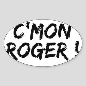 common Roger Federer Sticker (Oval)