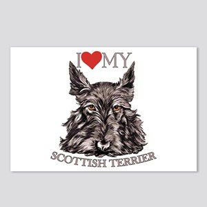 Scottish Terrier Love My Postcards (Package of 8)
