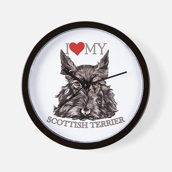 Scottish Terrier Love My Wall Clock