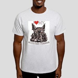 Scottish Terrier Love My Ash Grey T-Shirt