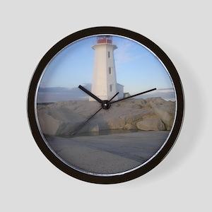 Lighthouse Peggys Cove, NS Wall Clock
