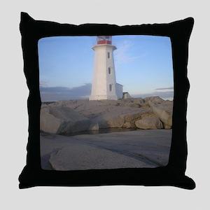 Lighthouse Peggys Cove, NS Throw Pillow