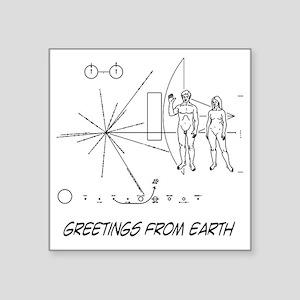 "earthgreeting01 Square Sticker 3"" x 3"""