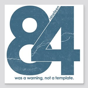 """nineteen84Faded Square Car Magnet 3"""" x 3"""""""