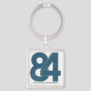nineteen84Faded Square Keychain