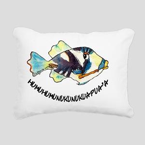 2-RoundHumu2Fish Rectangular Canvas Pillow
