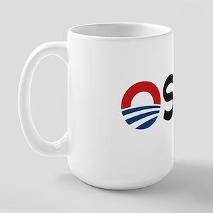 O_shit BUMPERsticker Large Mug
