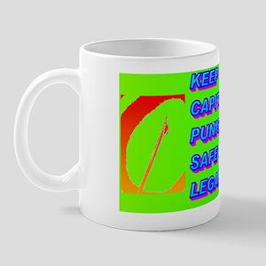 KEEP CAPITAL PUNISHMENT(black cap) Mug
