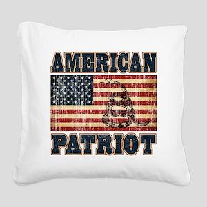 american patriot Square Canvas Pillow