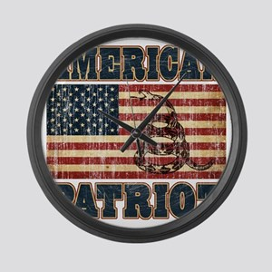 american patriot Large Wall Clock