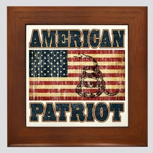 american patriot Framed Tile