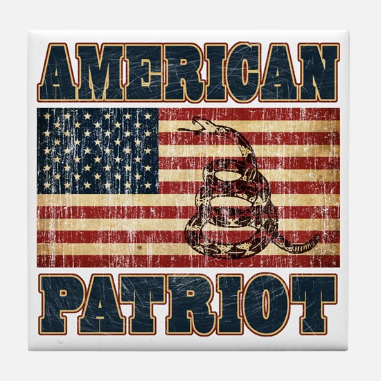 american patriot Tile Coaster