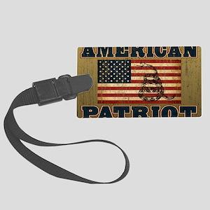 american patriot_yard Large Luggage Tag
