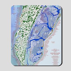 1023 Map of Northampton County, VA Mousepad