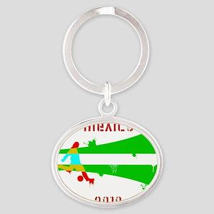 2-Mexico copy Oval Keychain
